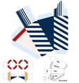 Box template Gift package Nautical style vector image vector image