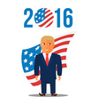 Cartoon Character Man in Blue Suit for Election vector image vector image