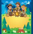 children scouts theme image 3 vector image vector image