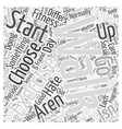 Choosing The Right Exercise For You Word Cloud vector image