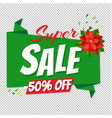 christmas big sale poster transparent background vector image vector image