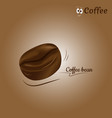 coffee bean icon design vector image vector image