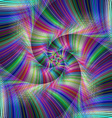 Colorful psychedelic spiral fractal background vector image vector image