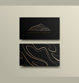 creative mountain visit card design logo for vector image vector image