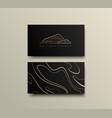 creative mountain visit card design logo vector image vector image