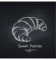 croissant on chalkboard vector image vector image
