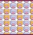 cute teddy bear head background vector image vector image