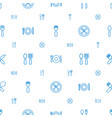 cutlery icons pattern seamless white background vector image vector image