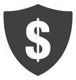 dollar shield flat icon symbol vector image