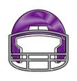 drawing purple american footbal helmet equipment vector image vector image