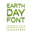 earth day font forest alphabet letters from tree vector image vector image