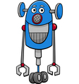 funny robot cartoon vector image vector image