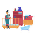 garage sale childish furniture and toys customer vector image vector image