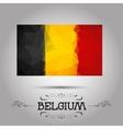 geometric polygonal Belgium flag vector image vector image