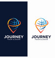 global pin logo design template vector image