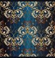 gold damask seamless pattern vector image vector image