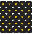 Golden and white hearts seamless pattern vector image vector image