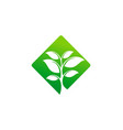 green tree icon logo vector image vector image