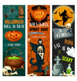 halloween party sketch holiday night banner vector image