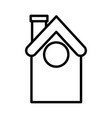 house home architecture icon thick line vector image vector image