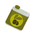 jar with olive oil vector image vector image