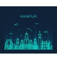 Kanpur skyline detailed linear vector image