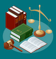 law and justice conept symbol law and justice vector image