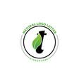 letter t with leaf logo green leaf logo icon vector image vector image