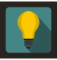 Light bulb icon in flat style vector image vector image