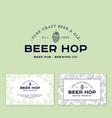 logo beer hop cone pub ba brewery engraving style vector image vector image