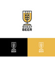logo wheat beer vector image vector image