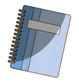notebook school isolated icon vector image vector image
