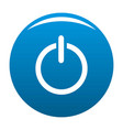 power icon blue vector image