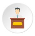 Public speaker icon circle