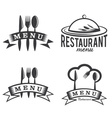 Restaurant and menu elements set