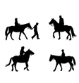 riding horses vector image vector image