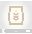 Sack of grain icon vector image vector image