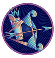 sagittarius zodiac sign horoscope symbol vector image vector image