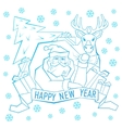 Santa Claus with Label for your design vector image vector image