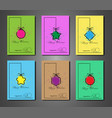 set cards 2020 happy new year splash color texture vector image vector image