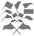 set checkered flag vector image