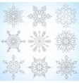 Set of snowflakes Contoured mandalas Snowflakes vector image vector image