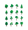 Set of tree symbols vector image vector image