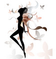 shape of beautiful woman icon cosmetic and spa vector image vector image