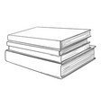 sketch - stack books vector image vector image