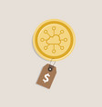 storjoin coin price value money gold currency vector image vector image