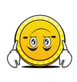 tired coin cartoon character collection vector image vector image