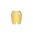 Tooth computer symbol vector image vector image