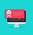 virus in computer screen icon malware and scam vector image