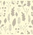 wild forest leaves seamless pattern colored vector image